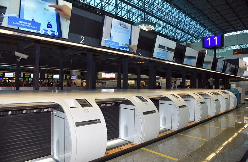 桃園機場自助行李託運櫃檯啟用 旅客出國更便利
